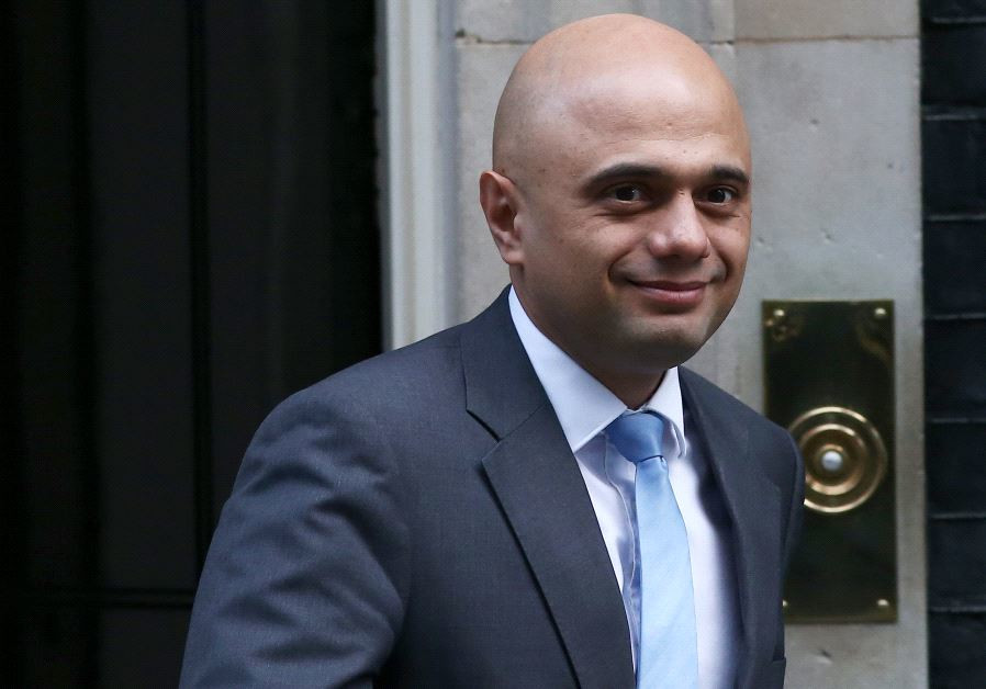 Britain's Secretary of State for local government Sajid Javid leaves a cabinet meeting in Downing St