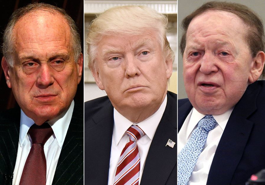 Lauder Trump and Adelson