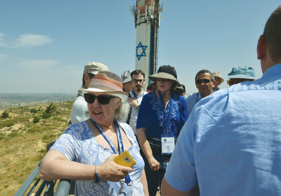 THE GROUP takes in the view from Neveh Daniel, a settlement in western Gush Etzion, on Thursday.
