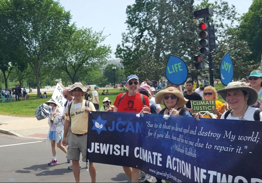 JCAN MEMBERS take part in the People's Climate March in Washington in April.