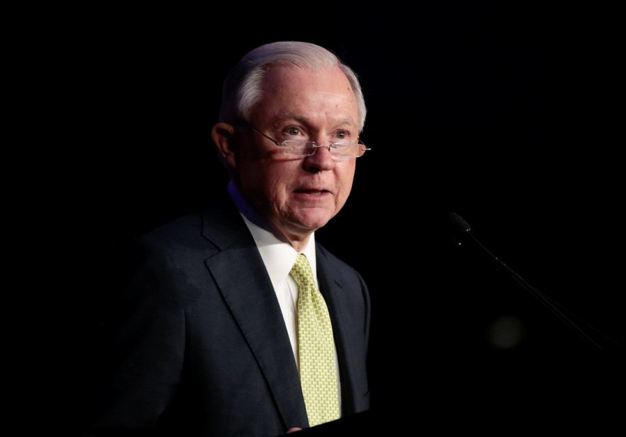 U.S. Attorney General Jeff Sessions addresses the National Law Enforcement Conference on Human Explo