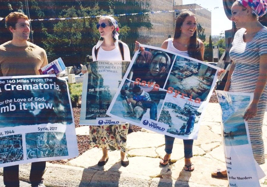 A PROTEST outside the Knesset last week organized by The World Values Network.