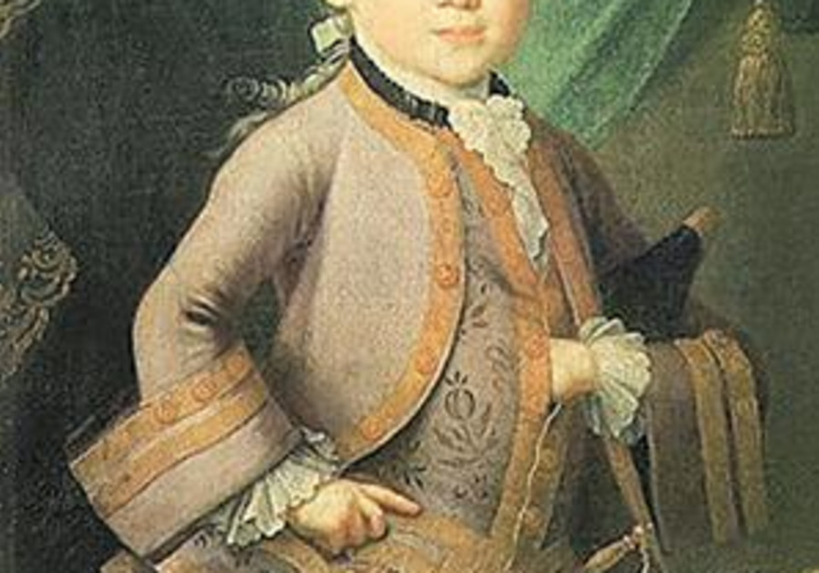 portrait of mozart as kid