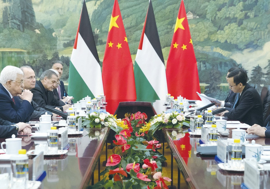 Beijing is on board with advancing the peace process, says Abbas