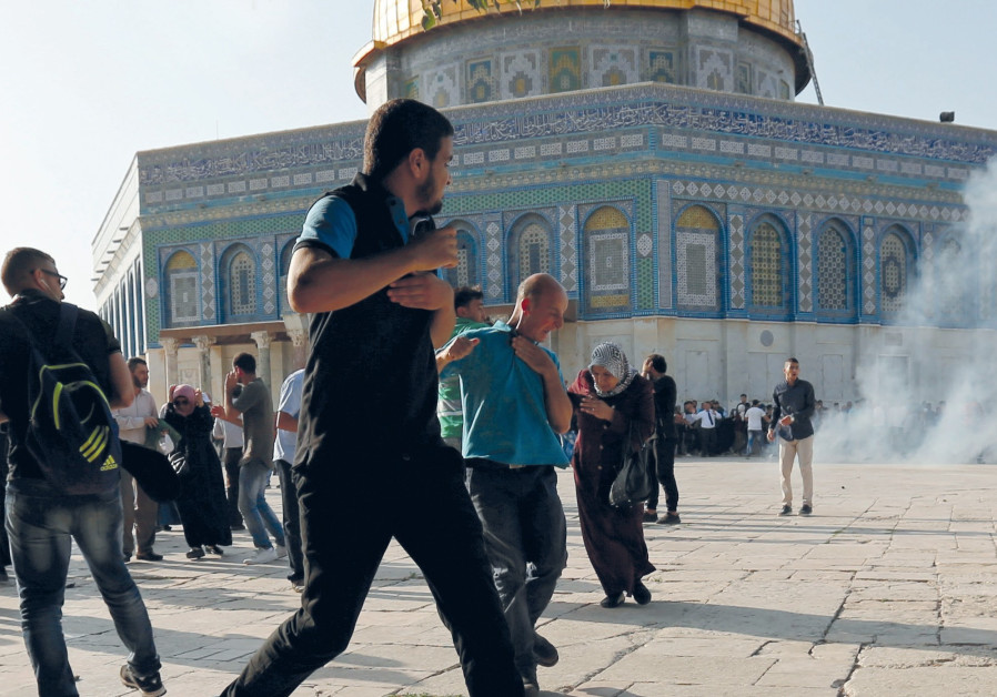 Image result for Palestinian Arab incitement and violence temple mount