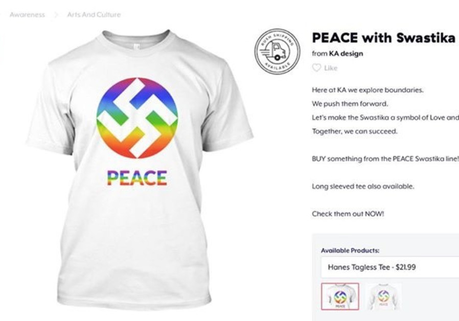 US T-shirt company sells swastika design as 'symbol of love and peace'