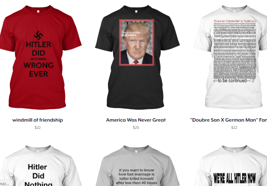 Swastika T-shirt saga continues: Site now offers Hitler memes