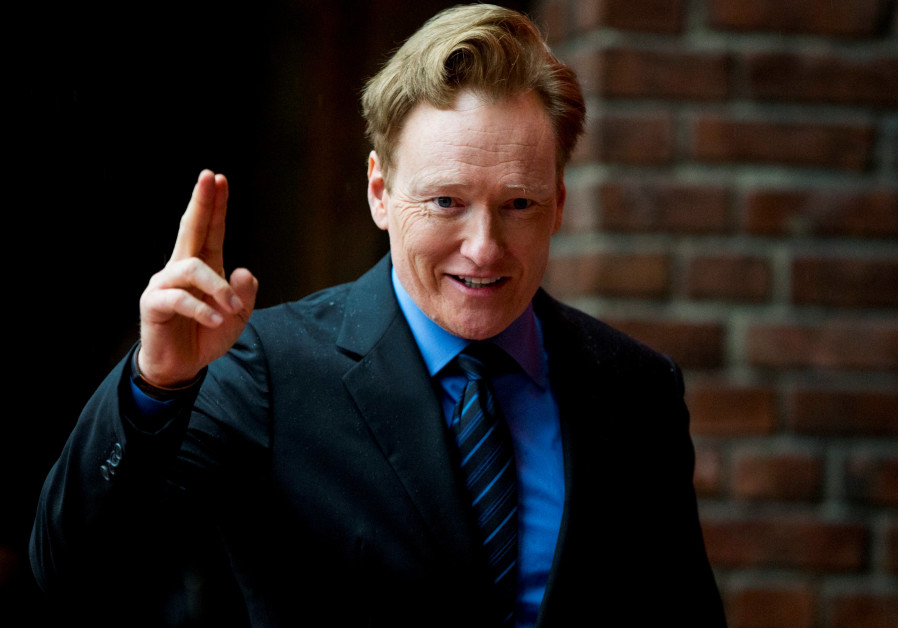 Conan O'Brien arrives for the Peace Prize awarding ceremony at City Hall in Oslo