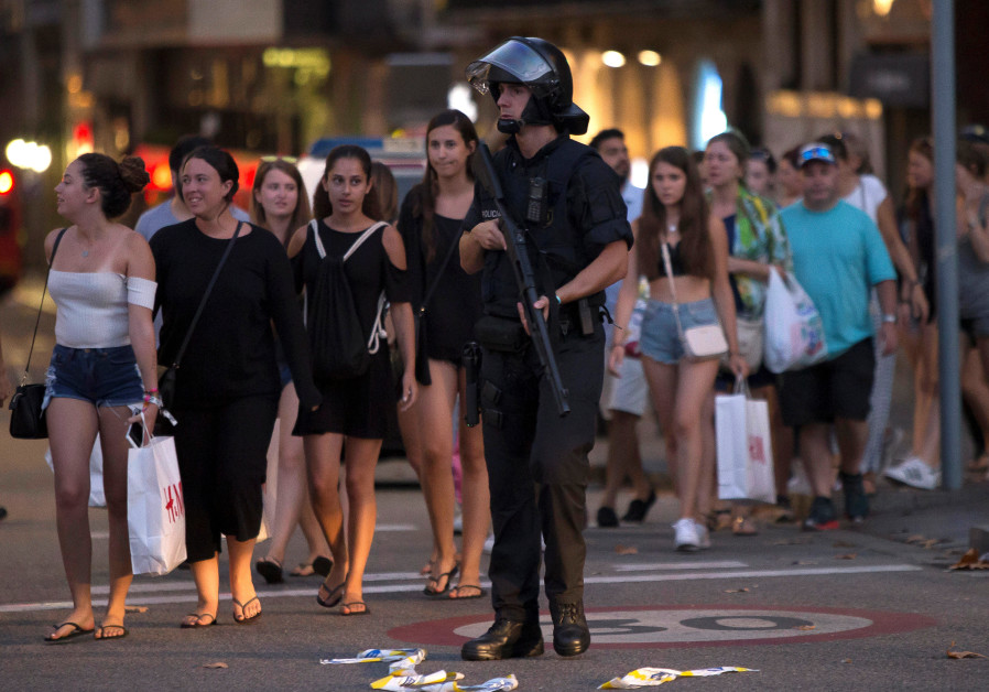 Barcelona Attack Hits Near Kosher Restaurant, Keeping Jerusalem on Edge