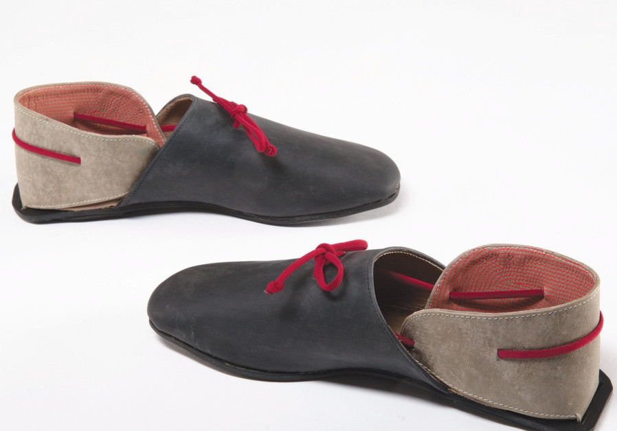 Shoes designed for wheelchair-bound persons, made by Tal Ariel