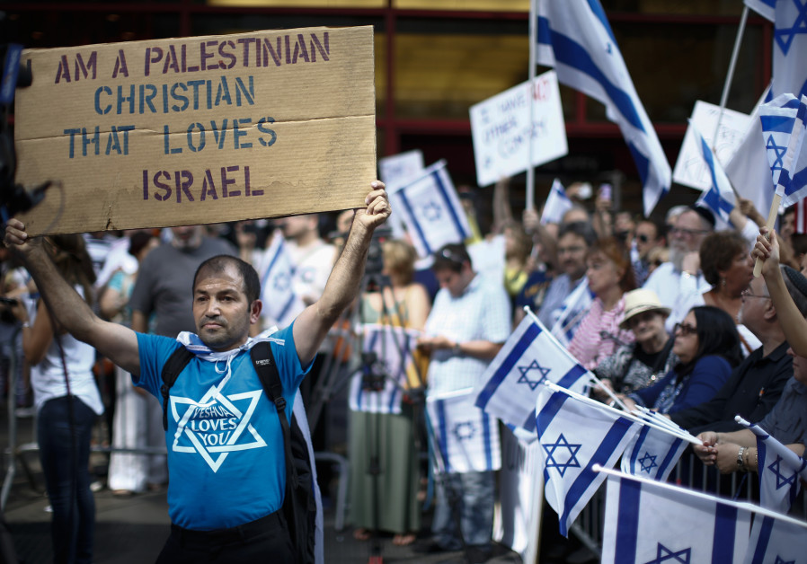 A pro-Israel palestinian christian supporter