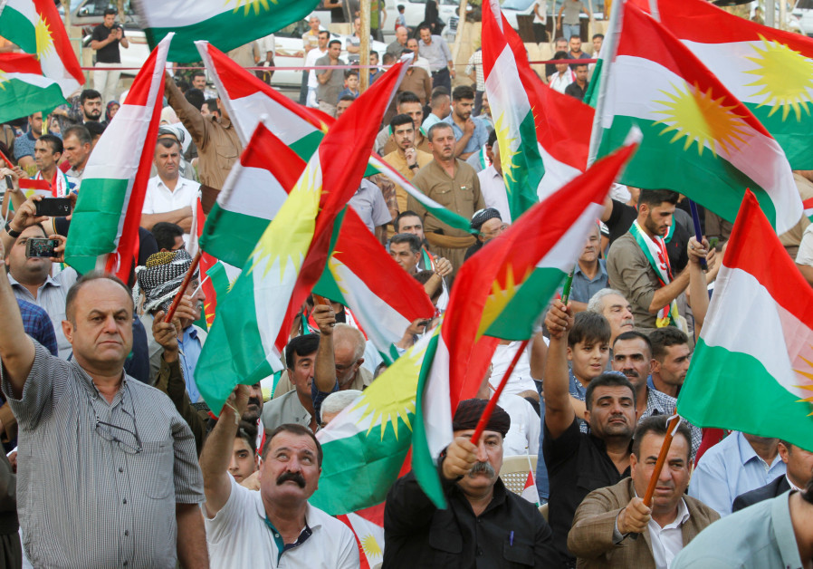 In Photos: Kurds are flying Israeli flags at independence rallies