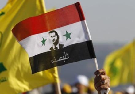 Flags of Hezbollah, Assad's Syria