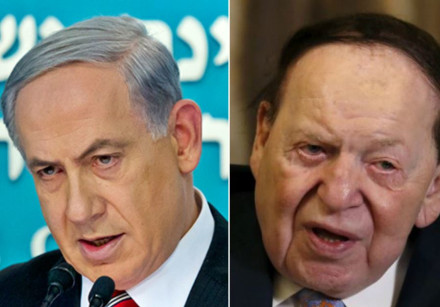 Benjamin Netanyahu and Sheldon Adelson