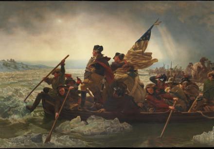 Washington Crossing the Delaware, December 25, 1776, by Emanuel Leutze, 1851.