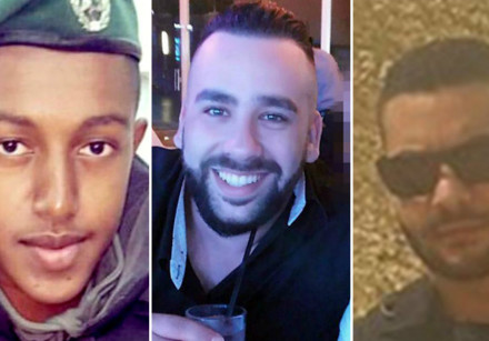 St. Sgt. Solomon Gabaria, Yossef Otman and Or Arish, the victims of the Har Adar West Bank terror sh
