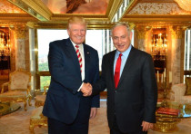 Donald Trump and Benjamin Netanyahu meet at the Trump tower