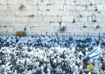 THE WESTERN WALL. Some 47% of left-wing respondents said they would not agree to a partition of the