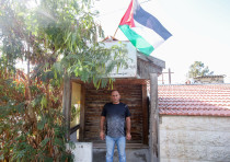 Mohammad Shamasneh in front of his home in home in Sheikh Jarrah, August 15, 2017.