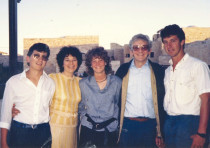 Passover 1985 in the Old City: (from left) Tuvia, Rita, Elissa, David and Avie Geffen.