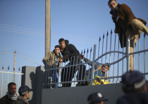 Gazans attempting to cross into Egypt at the Rafah crossing