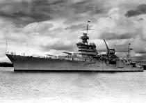 The World War II cruiser USS Indianapolis