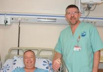YISRAEL ELYADA from Katzrin recovers from a catheterization performed by Dr. Fabio Koznitz at Poriya