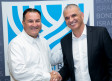 Israel Bonds President & CEO Israel Maimon (left) greets Finance Minister Moshe Kahlon
