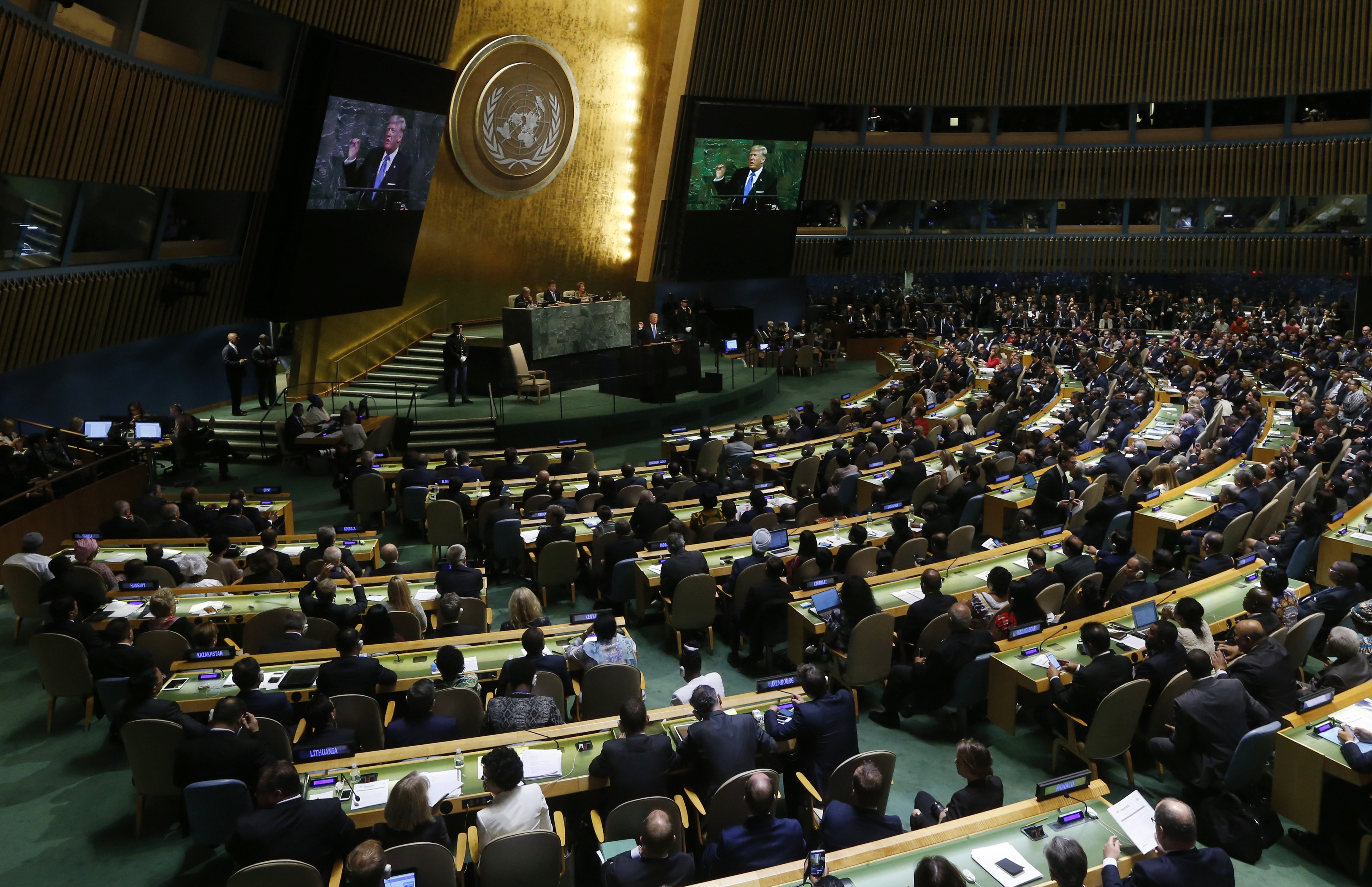 Iran pushes back on Trump's United Nations  attack